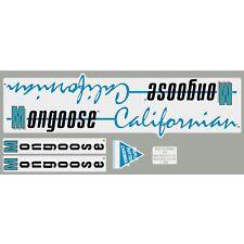 1987 Californian Mongoose decal set - Chrome frame
