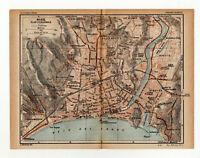 Cannes 1926 old vintage map plan chart COTE D/'AZUR