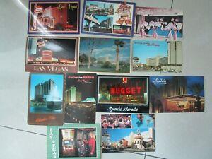 Vintage Lot of 12 Las Vegas Postcards Unused Mint Aladdin El Rancho Barbary