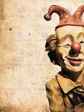 OLD VINTAGE CLOWN MODEL DOLL CIRCUS PHOTO ART PRINT POSTER PICTURE BMP2395B