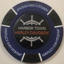 MANITOWOC, WI 115 ANNIVERSARY HARBOR TOWN HARLEY DAVIDSON POKER CHIP (B/B)