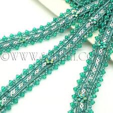 GREEN LIME beads TRIM trimming,edging,EMBELLISHMENT,CRAFT,costume,craft,art,sew