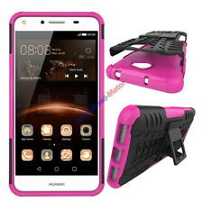 For Huawei Y6 II Compact Case Rugged Armor Kickstand Protective Phone Cover