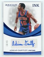 2018-19 ADRIAN DANTLEY 10/49 AUTO PANINI IMMACULATE COLLECTION INK AUTOGRAPHS