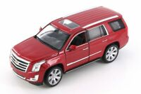 2017 Cadillac Escalade Diecast Model 1:24 Red - Welly - 24084RD*