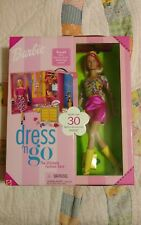 BARBIE DRESS N GO THE ULTIMATE FASHION CASE 30+ ACCESSORIES WITH SHOES NEW!