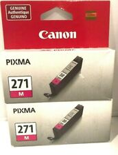 (2) Genuine Canon Pixma 271M 271 Magenta Ink Cartridge NEW SEALED