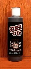 8 oz NightFall Brown Darkest of All!  LEATHER Refinish an Aid to Color RESTORER
