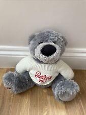 More details for butlins binkie bear 2017 grey soft toy teddy cuddly plush