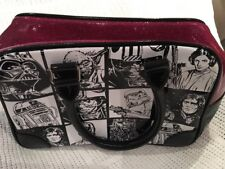 Star Wars Bowling Bag With Cartoon Black And White Print And Pink Glitter Top