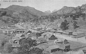 H72/ Estes Park Colorado Postcard c1910 Birdseye Homes Store Hotel 118