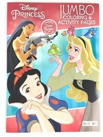 Disney Princess Jumbo Coloring Activity Pages Book Pocahantas Snow White Ariel