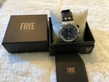 Frye 46mm Sapphire Crystal Black Dial  Leather Multi-Dial Chronograph Watch