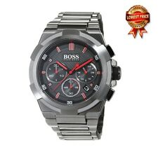 NEW HUGO BOSS HB1513361 GUN METAL SUPER NOVA EDITION CHRONOGRAPH MEN'S WATCH
