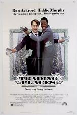 """⭐️Official Studio Issued 1983 TRADING PLACES  27""""x41"""" Folded Single Sided Poster"""