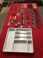 Cutlery: A Large Mixed Job Lot Of Clean Vintage/Modern Cutlery With Tray