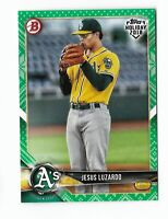 2018 Topps Bowman Holiday baseball Jesus Luzardo Green festive Parallel 81/99