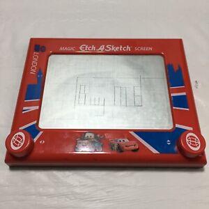 Disney Cars London Magic Etch A Sketch Screen Wgp London-(C2)