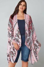 Yours Clothing Rosa Floreale Border Print Wrap LF172 EE 17