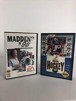 Madden NFL 96 , NHLPA Hockey  93 (Sega Genesis) Lot  No Manual
