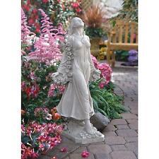 Muse Roman Goddess of Springtime Garland of Roses Angelic Garden Sculpture