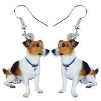 Fashion Jack Russell Dog Earrings Dangle Drop Pet Acrylic Jewelry For Women Gift