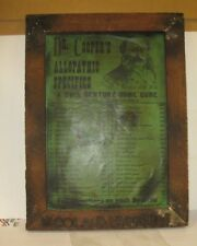 OLD WAGON TRAIN DOCTORS SIGN LATE 1800'S DR COOPERS