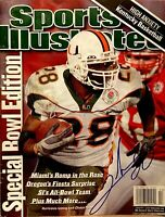 2002 Clinton Portis Miami Hurricanes Signed Autographed Sports Illustrated