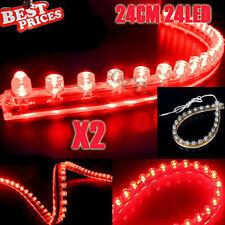 2x rosso 24LED 24CM PVC flessibile impermeabile Acquario Fish Tank Light Strip