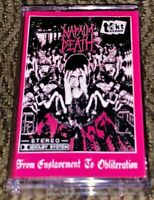 Napalm Death - From Enslavement To Obliteration VG Cassette Tape Grindcore TAKT