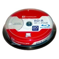 BluRay Blank Disc Mirror BD-R Full Surface Inkjet Printable 10 Pack Blank Disc