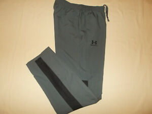 UNDER ARMOUR GRAY MESHED LINED ATHLETIC PANTS MENS SMALL EXCELLENT CONDITION