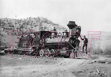 Denver & Rio Grande (D&RG) Engine 65 at Pagosa Springs, CO - 8x10 Photo