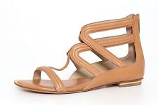 Michael Kors Collection Women's Brown Flat Gladiator Sandals 5137 Size 36