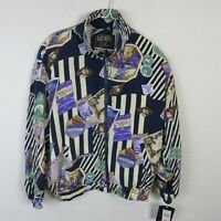 Vintage East West Silk Around the World Voyage Bomber Jacket NWT - Women's M