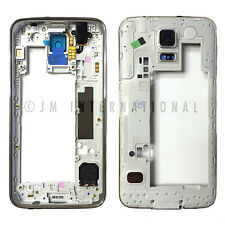 Samsung Galaxy S5 G900T Middle Frame Back Rear Housing Bezel Camera Lens Cover