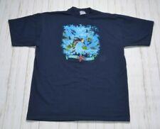 Curious George Ocean Blue Single Stitch Vintage 90s T Shirt Size Xxl