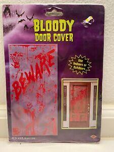 """Beistle Halloween Bloody Door Cover 30"""" x 5' Plastic Decoration Indoor/Outdoor"""