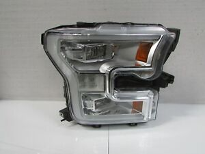 2015 2016 2017 FORD F-150 F150 OEM RIGHT LED HEADLIGHT W/ CHROME BEZEL E1