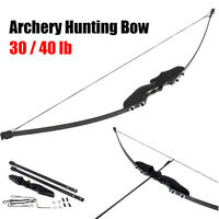 """54"""" 30/40 lbs Archery Hunting Recurve Bow Shooting Longbow Takedown Right Handed"""