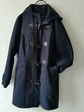 Ladies Winter Coat Hooded Jacket UK18 Navy Wool Blend