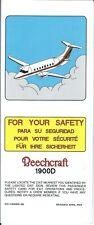 Safety Card - Beechcraft - Beech 1900D - 1994 (S4039)