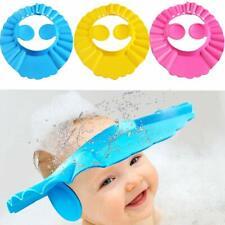 3 Pcs Soft Adjustable Visor Hat Safe Shampoo Shower Bathing Protection Bath Cap