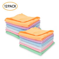 """12Pcs Microfiber Square Cleaning Cloth Towel Kitchen Dish Rags Absorbent 12""""X12"""""""