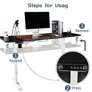 Height Adjustable Desk Frame Electric Sit Stand Office Workstation White