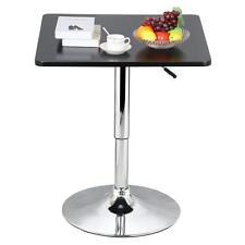 35''Black Square Pub Bar Bistro Table Indoor Outdoor Patio Restaurant Adjustable