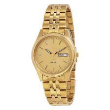 Seiko Men's Gold Solar Powered Watch SNE036