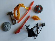 MOTU HE-MAN 1980s Weapons Accessories Lot Original Parts Mattel RM1