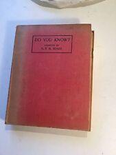 Do you know? SBP Mais vintage Question Book