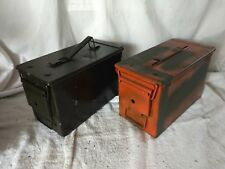 Pair of 50 CAL M2A2  5.56MM US MILITARY AMMO CANS